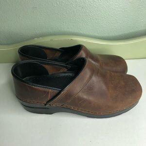 Dansko shoes clogs women size39 US 8 brown leather